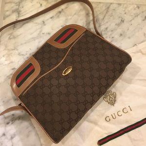 Gucci rare 1970's monogram crossbody bag
